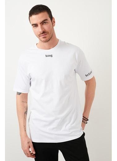 Buratti Buratti Oversize Erkek T-Shirt 5721015 Beyaz